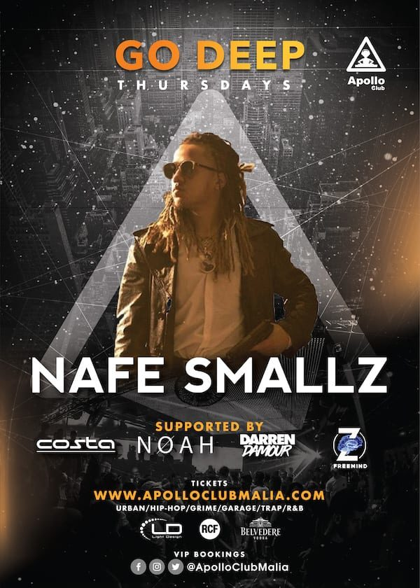 Apollo Club Malia | Nafe Smallz